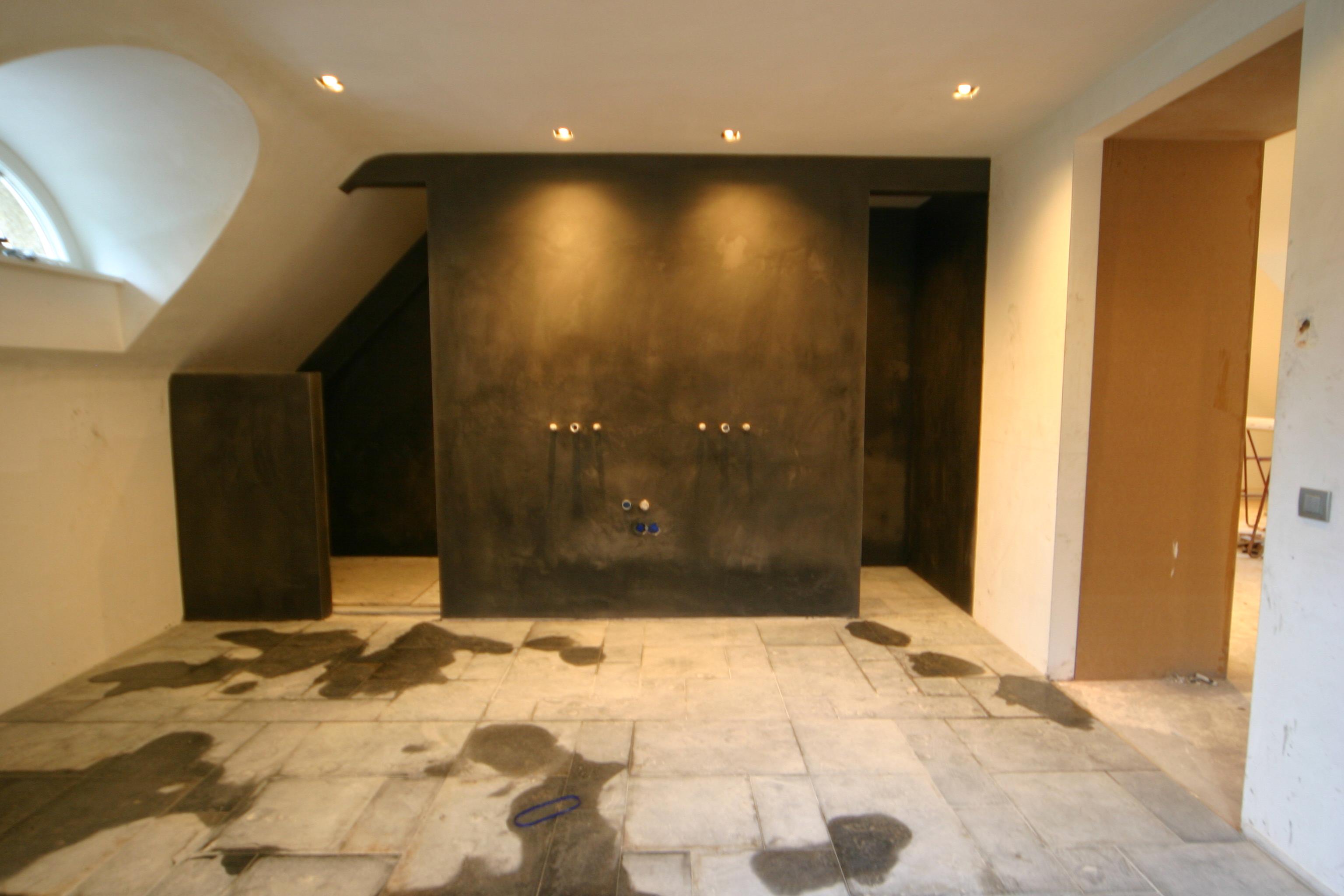 badkamer afwerking stukwerk stucwerk unilith keim ludwig luschen ...