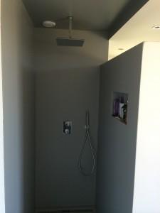 badkamer gladde wanden coating verf systeem sikkens ludwig luschen stucadoor stukadoor modern moderne industrieel amsterdam almere
